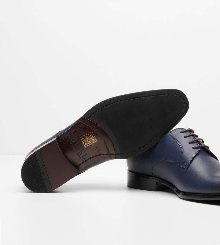 Scarpa Derby Elegante Digel in Pelle fondo fondo fondo cuoio e gomma antiscivolo in 3 Farbei e4a786