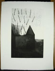 Alain-Loiselet-1946-034-Sagittation-034-87-150-Art-Abstract-Fantasy-Eau-Forte-Gold