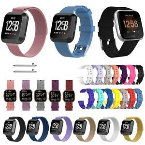 Details about For Fitbit Versa Strap Replacement Band Metal Fabric Silicone  Watch Band UK