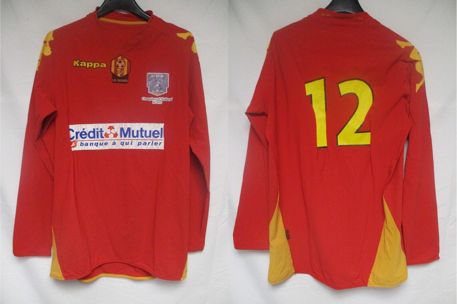 Maillot LE MANS 72 MUC porté n°12  KAPPA match worn shirt manches Largoues XL  tienda hace compras y ventas
