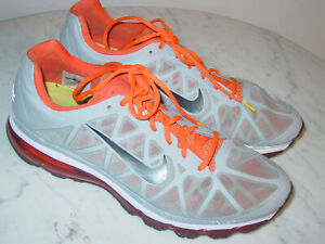 cheap for discount b08c7 77bf3 Image is loading 2010-Nike-Air-Max-2011-Livestrong-Wolf-Grey-