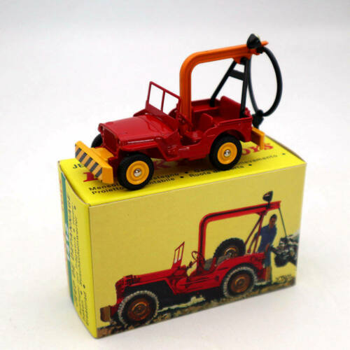 Atlas Dinky Toys 1412 Jeep DE Depannage Truck Red Diecast Models Car Collection