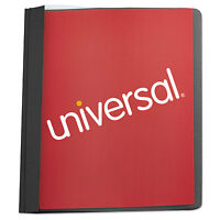 Universal Clear Front Report Cover Tang Fasteners Letter Size Black 25/box 57120 on sale