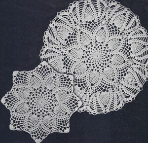 Vintage Crochet Pattern 2 Pineapple Doily Motif Ebay