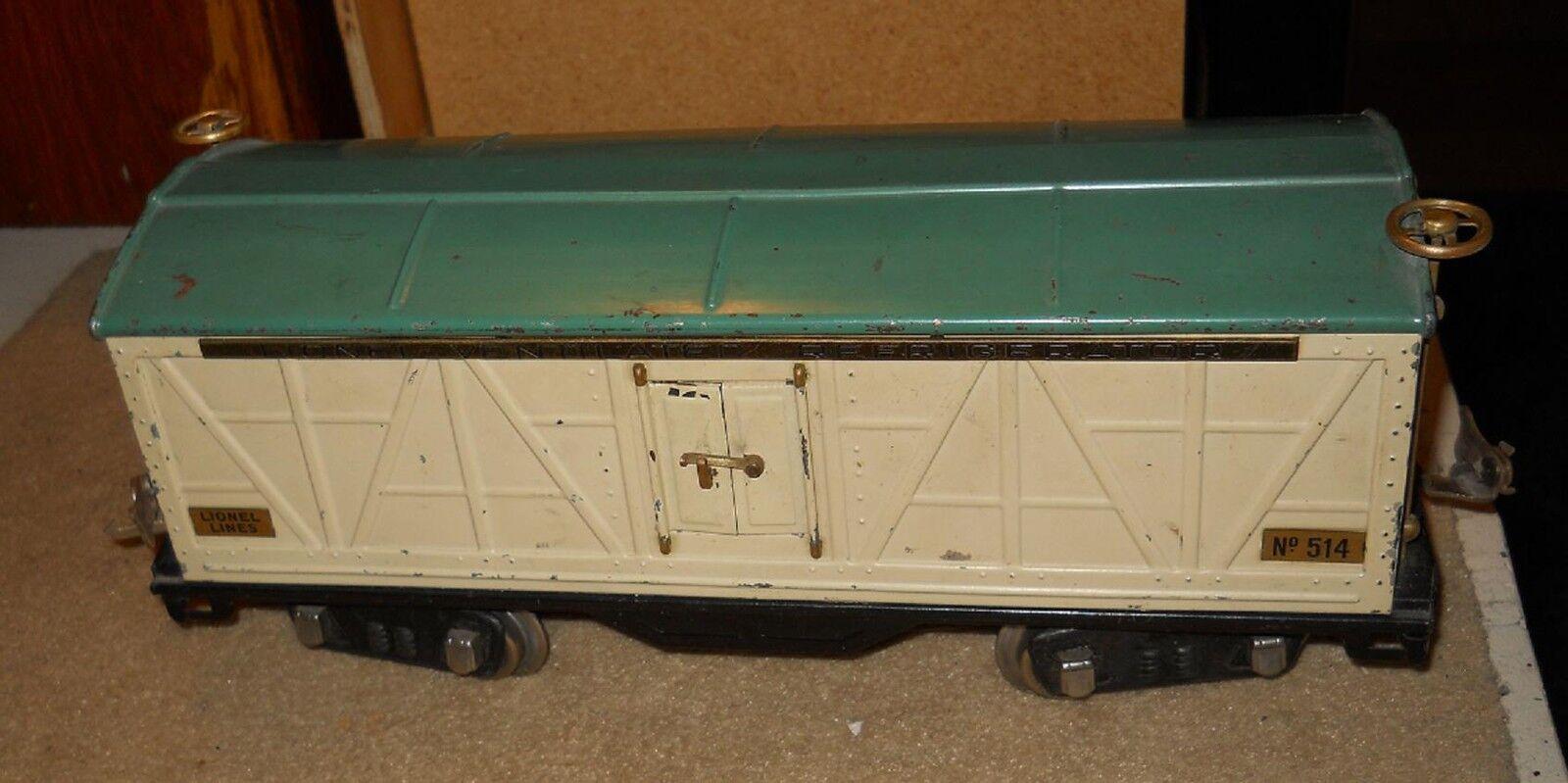 Standard Gauge  Lionel 514 Ventilated Refrigerator  Car, 1927-1928