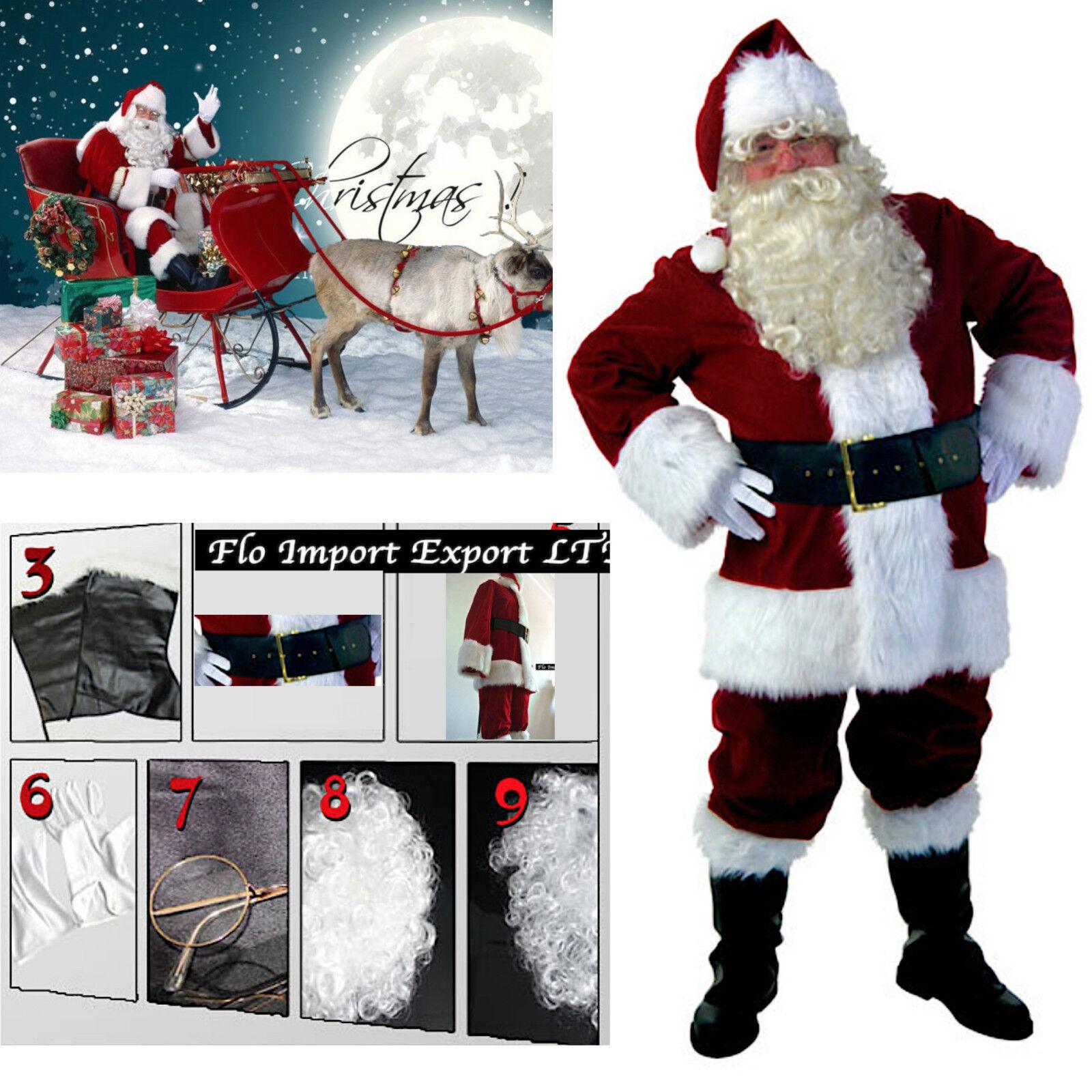 Vestito Costume Babbo Natale Deluxe Cosplay Santa Claus Christmas Suit Suit Suit SANTC03 645505