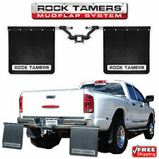 "Rock Tamers 00108 Mud Guards Mud Flaps Adjustable System for 2"" Receiver Hitch"