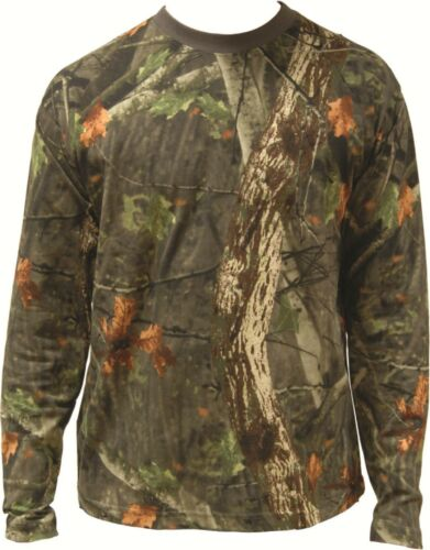 Tree Deep Camo LONG Sleeved T-Shirt Hunting Outdoors All Sizes 100/% Cotton