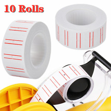 10 Rolls Price Tag Gun Labels White Tagging Paper Sticker Refill For Mx 5500