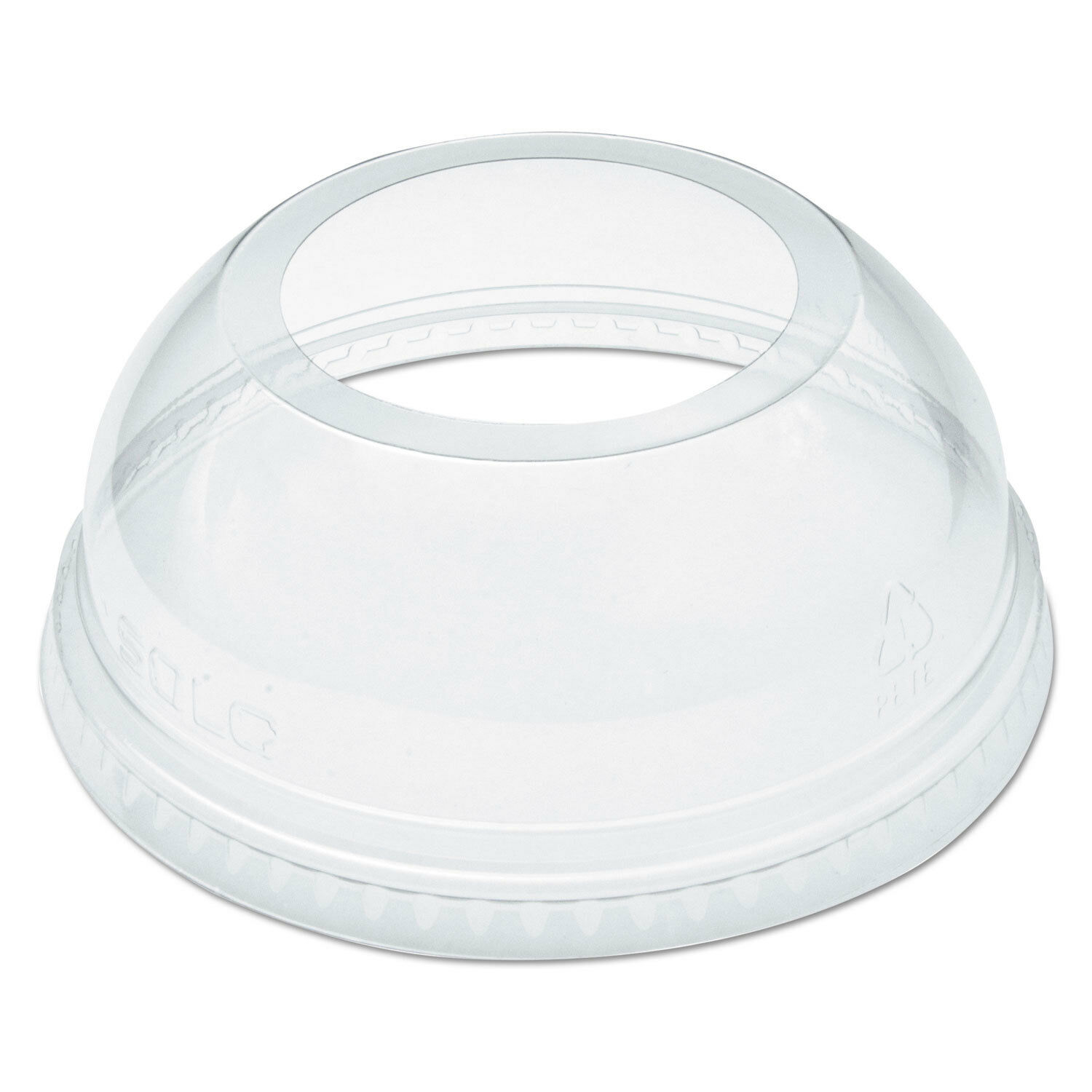 Open-Top Dome Lid for 16-24 oz Plastic Cups, Clear, 1.9 Dia Hole, 1000 Carton