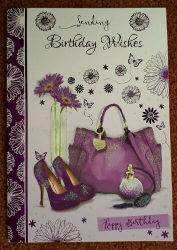 Female general birthday card ~ family friends colleagues birthday card