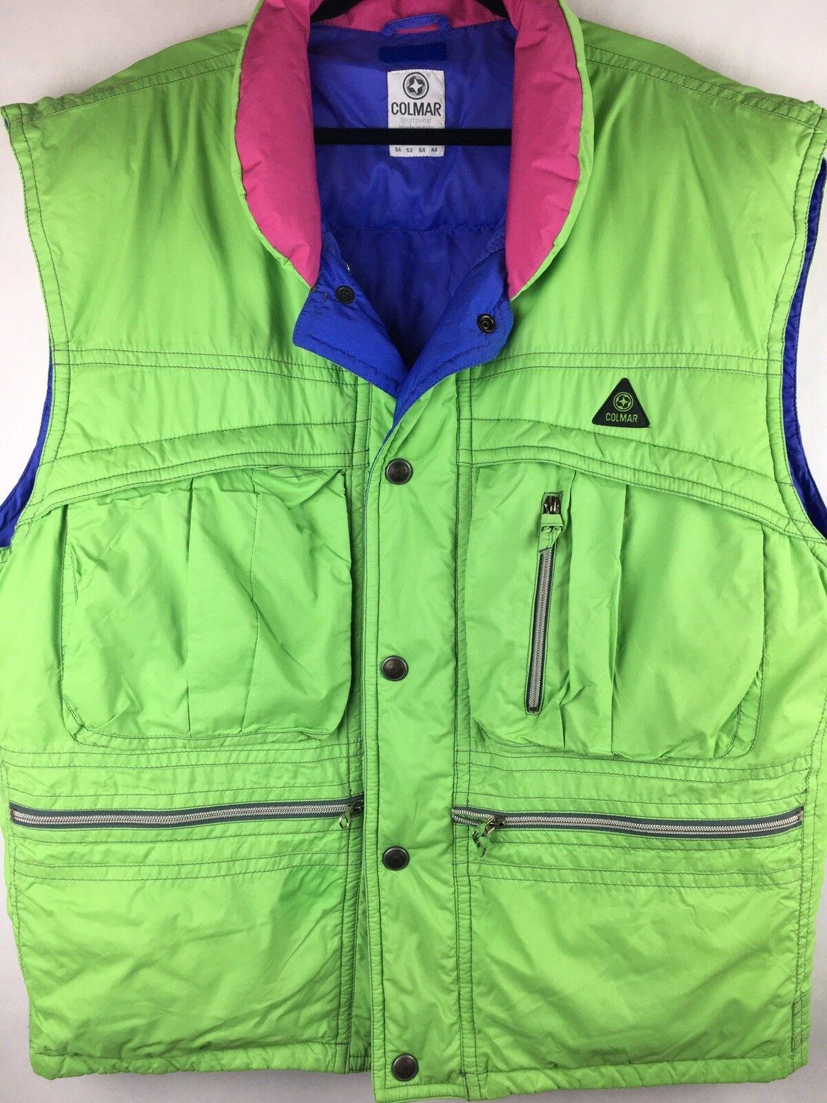 Colmar Sportswear  Size 44 Down Ski Vest  Green Pink Purple  top brand