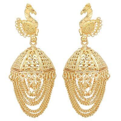 Onefeart Gold Plated Earrings Women Zirconia Creative Design