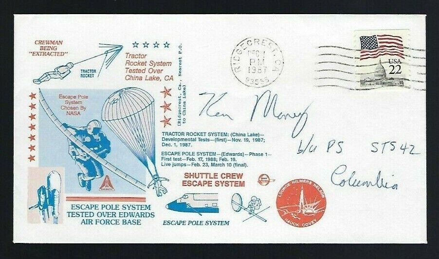 s l1600 - Ken Money signed cover Canadian Astronaut