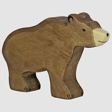 Braunbär 15 cm Holzfiguren Serie Wildtiere Holztiger 80183