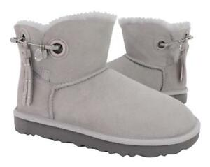 7c6e6b8c226 Details about New NIB Ugg Women's Josey Bling Embellished Swarovski Crystal  Gray Suede Boots