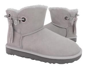 596ef3bda4d Details about New NIB Ugg Women's Josey Bling Embellished Swarovski Crystal  Gray Suede Boots