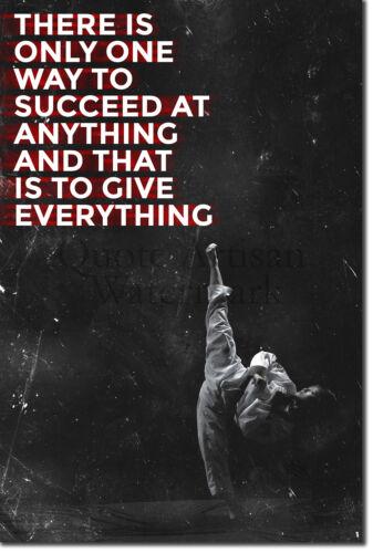 "Taekwondo Motivational Poster 10 /""Succeed.../"" Art Print Motivation Quote Karate"