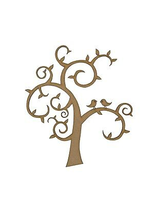 2x Heart Shape Tree Branches 7.5cm Wood Craft Embelishments Laser Cut Shape MDF