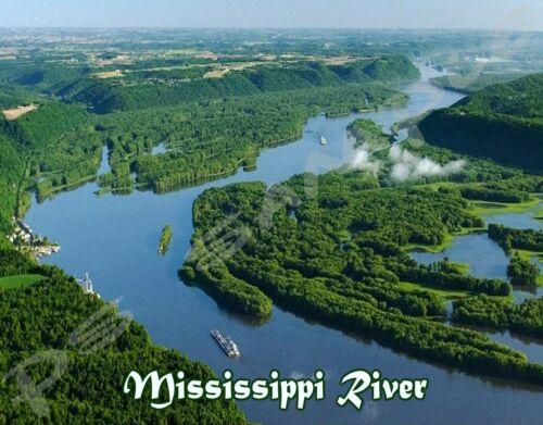 MISSISSIPPI RIVER Travel Souvenir Flexible Fridge MAGNET