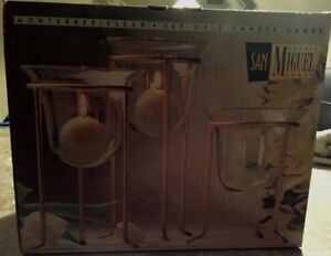 San-Miguel-Monterrey-Candle-Lamps-Set-of-Three-Pomeroy-Collection-New-In-Box