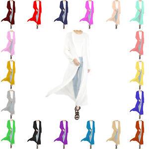 WMC-Femmes-a-Manches-Longues-Longueur-Boyfriend-Maxi-Ouvert-Cardigan-Top