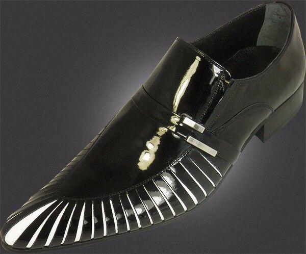 1000% Chelsy Chelsy Chelsy - Italienischer Designer Slipper Haifisch Kiemen schwarz Kalbsleder 66ce88