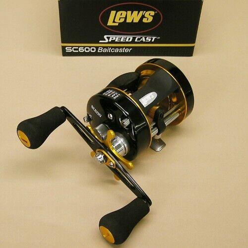 Lew's Speed Cast Round Baitcaster Reel 5.3 1 Right Hand Lews Model SC600