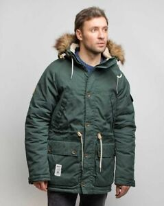 Addict-Expedition-Parka-Green-Men-039-s-winter-water-repellent-DESIGNED-IN-ENGLAND