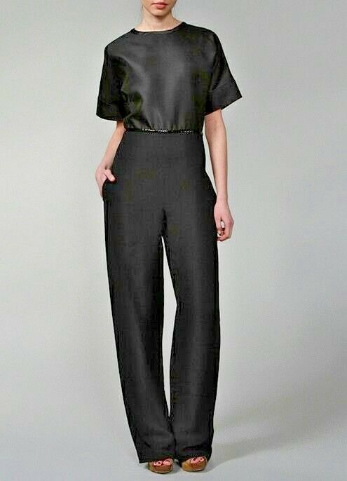 New sexy jumpsuit pants CHLOE structure silk France