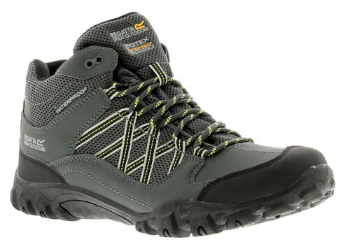 Regatta Edgepoint Mid Wp Mens Walking Hiking Boots Briar//Lime Punch UK Size 12