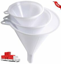 3 PIECE Norpro Plastic Funnel Small Medium Large Variety Liquid Oil Kitchen Set