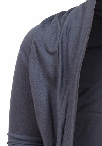 Girls Plain Steel Grey Longsleeve Ruche Bolero Shrug Cardigan Top.Sizes 5-14yrs