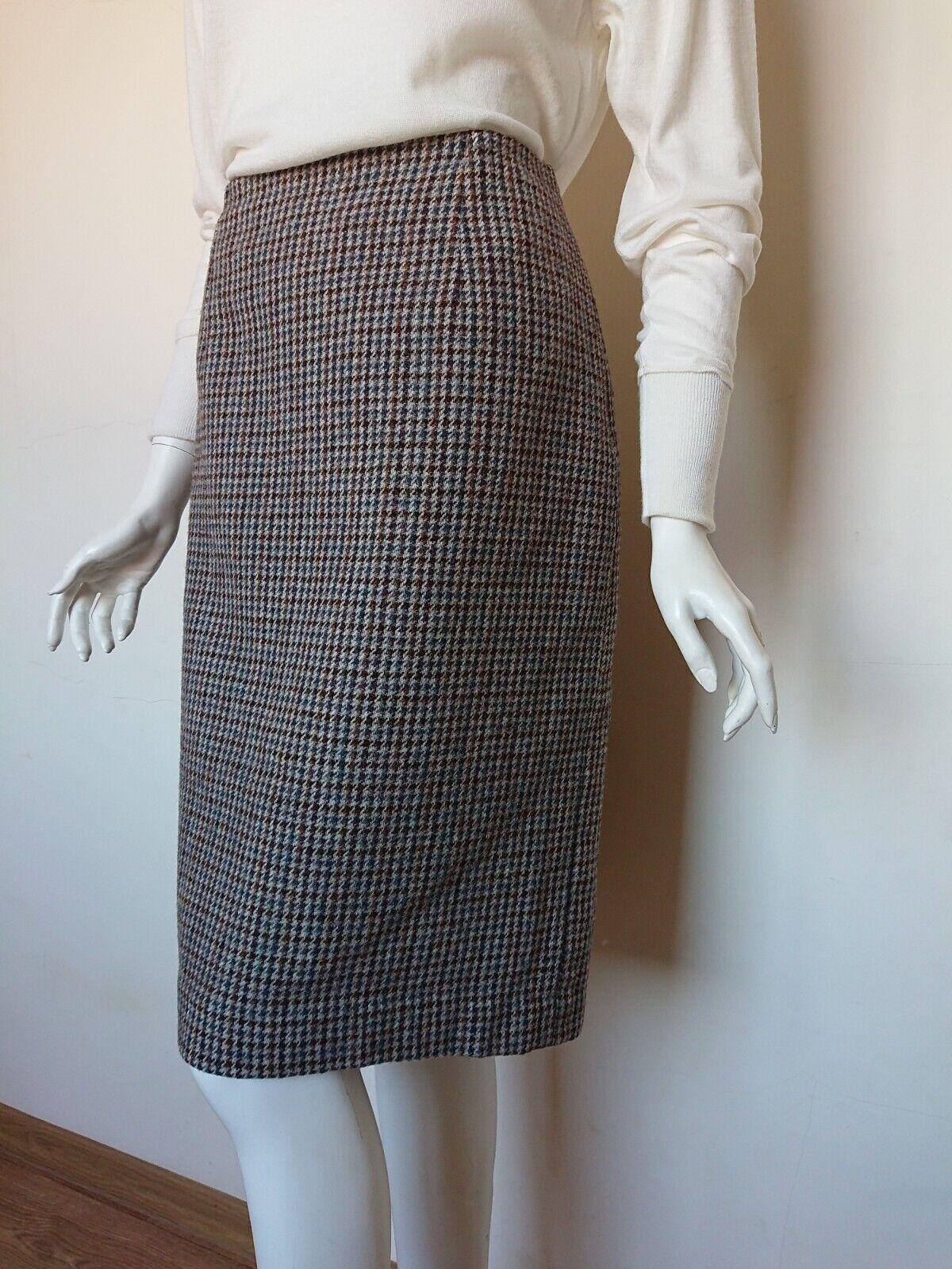 Trefriw women skirt pure new wool vintage 70's size UK 12