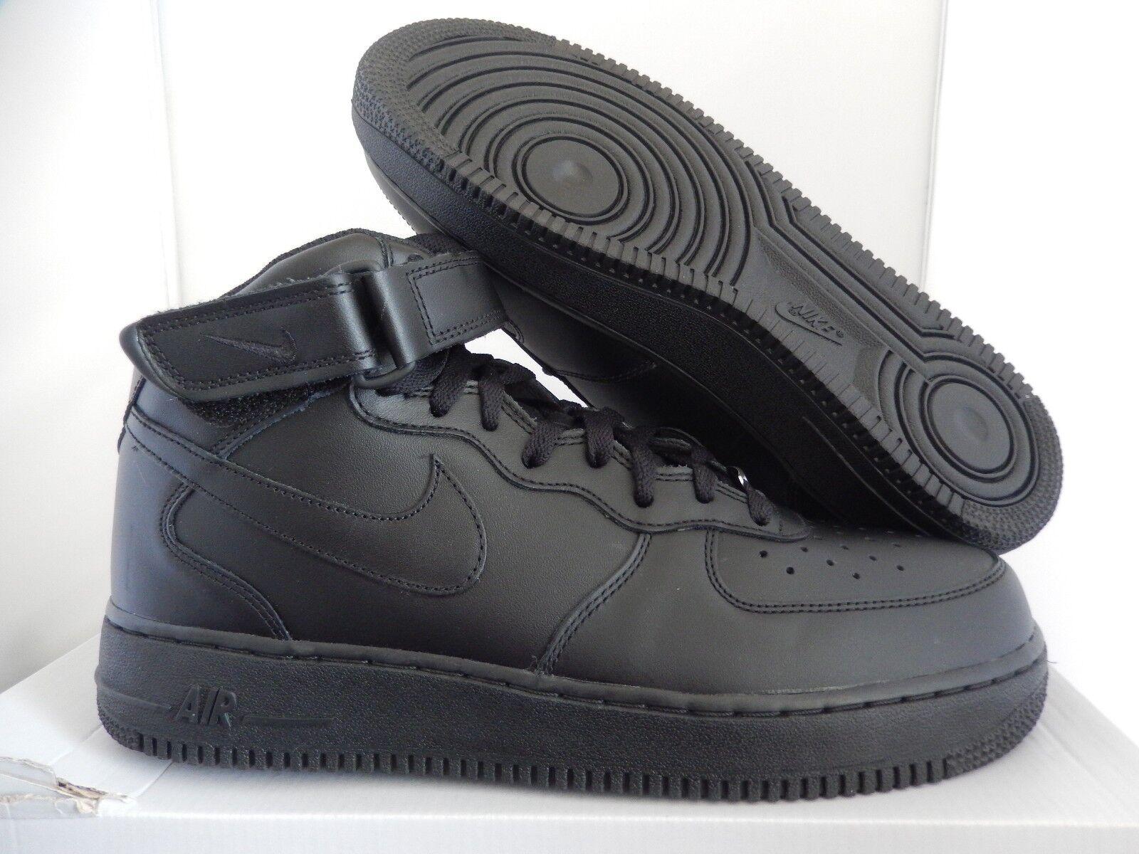 Nike air force 1 mitte 07 - schwarze sz 10,5
