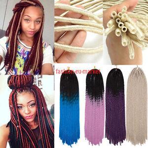 Image Is Loading Soft Dreadlocks Twist Braids Faux Locs Crochet Synthetic