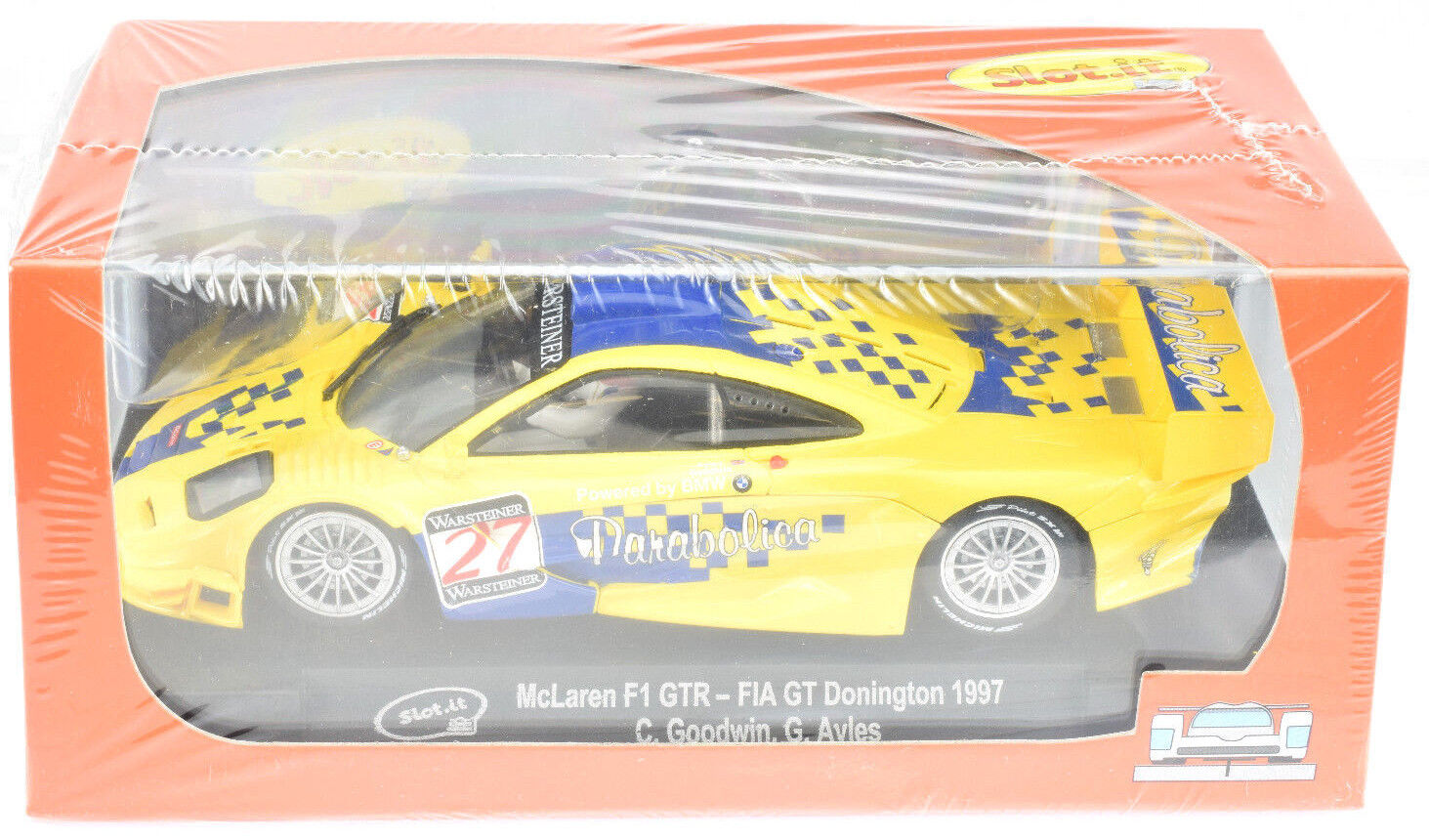 Slot It McLaren F1 GTR - 1997 FIA GT Donington 1 32 Scale slot Car CA10L
