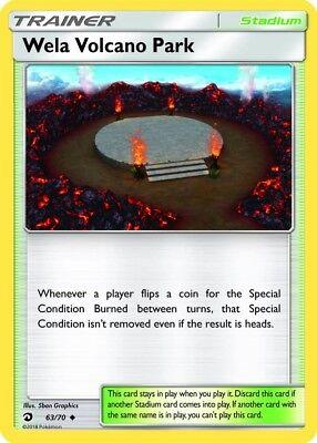 Pokemon SM DRAGON MAJESTY 4 X WELA VOLCANO PARK 63//70 UNCOMMON