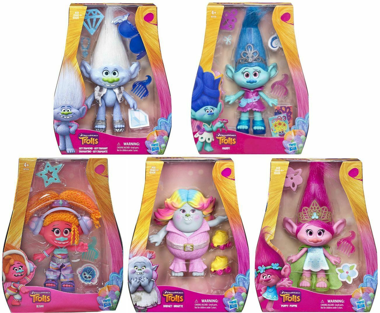 Trolls 9  Hasbro Dolls - Choose Choose Choose Poppy, Maddy, DJ Suki, Bridget or Guy Diamond be3717