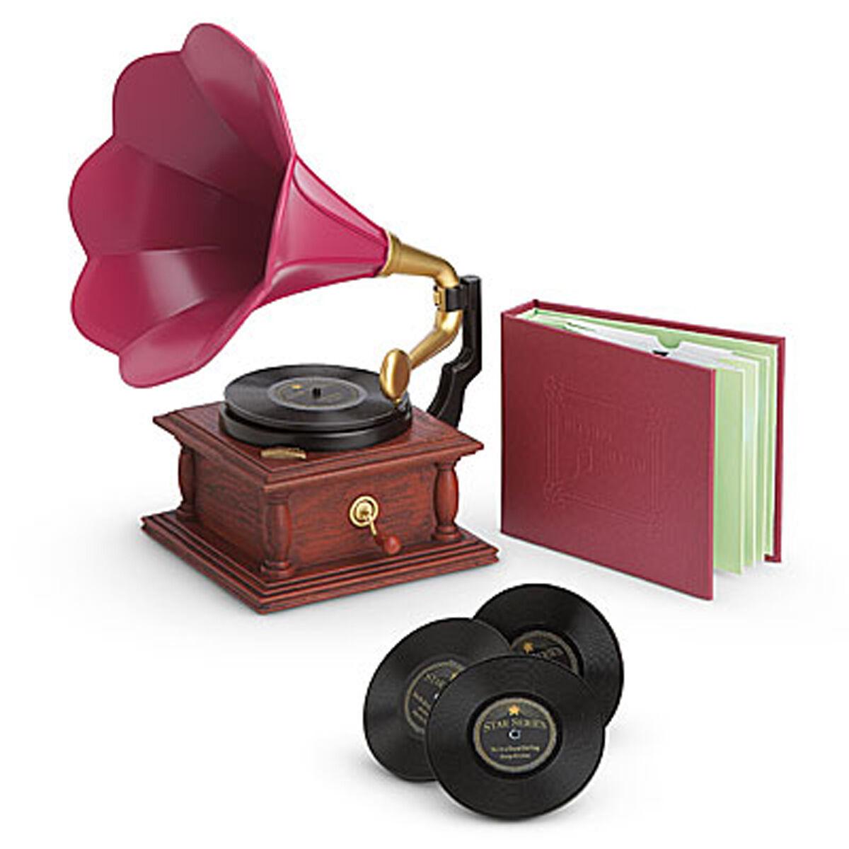 American Girl Rebecca Phonograph Set per 45.7cm Bambole Records Musica Nuovo in