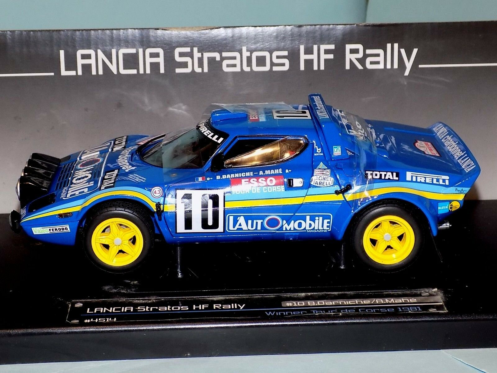 LANCIA STRATOS HF RALLYE B. DARNICHE  10 1981 1st Tour de Corse SUN STAR 4514 1 18