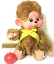 Vintage MONCHHICHI Monkey with Yo Yo Ball Wind-up Toy Korea WORKS Rare