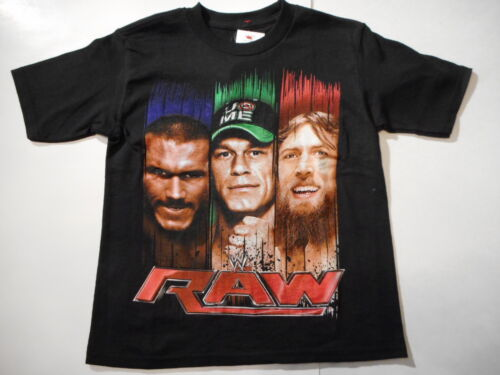 John Cena Boys shirts RAW Wrestling Sports T-shirts Boys Clothes Size 8