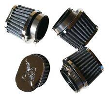 4 FOUR Chrome POD oval Air Filters Suzuki GS550 E L 1977 1978 1979 39MM NEW