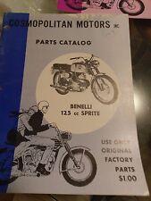 Benelli 125 cc Sprite Cosmopolitan Motors Inc.  Parts Catalog
