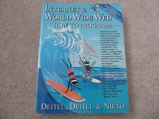 ☀️ NEW Internet & World Wide Web How to Program 1st Edition Book Deitel Neito