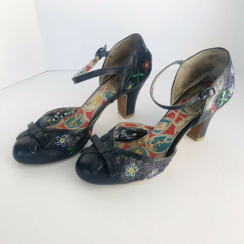 "MISS L-FIRE ""SCARLETT"" ROCKABILLY BLUE LACE FLORAL"