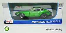 2015 Maisto 1971 Datsun 240Z 240 Z S30 Coupe Green w/Black 31170 1/18 MINT NEW!