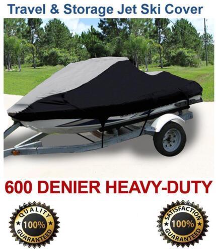 600 DENIER Yamaha Wave Runner XLT 800 2002-2004 Jet Ski PWC Cover Black//Grey