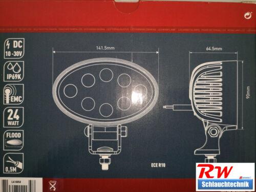 2240lm Nahfeldausleuchtung 12V 24V 24 Watt LED Arbeitsscheinwerfer